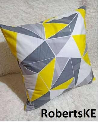 grey white throw pillows image 1
