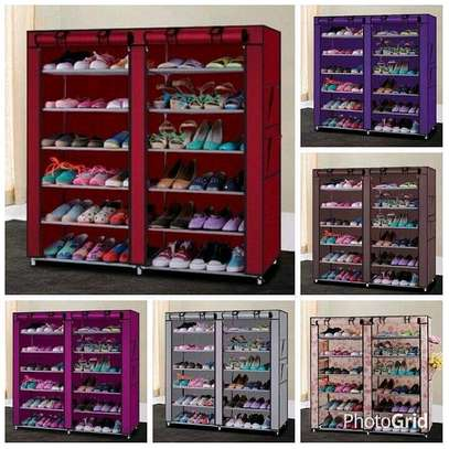 Shoe Cabinet, 2 Column 6 Rows, Shoe Rack image 1