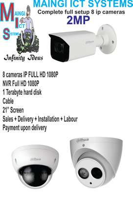 8 CCTV IP Cameras 1080P Complete Setup Full HD Sales Plus Installation