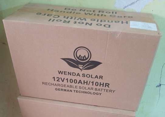 100AH WENDA SOLAR BATTERY,FREE MAINTENANCE BATTERY image 1