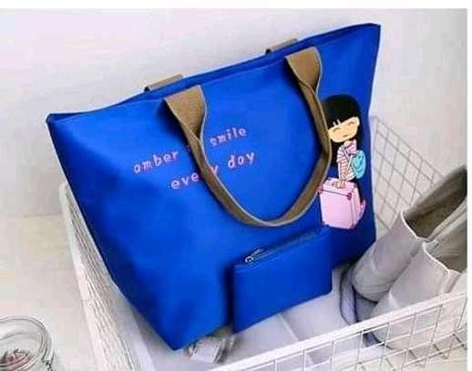 Ladies Canvas Handbags(2 in 1) image 2