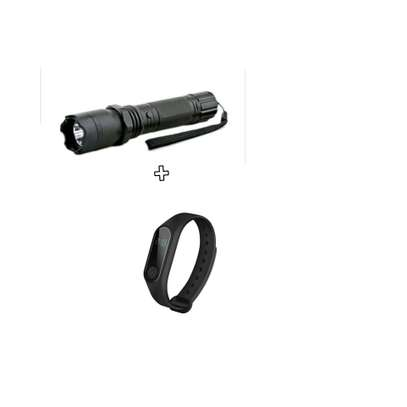 Self defense torch with free smart bracelet