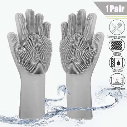Multi-function Silicone Washing Gloves image 4