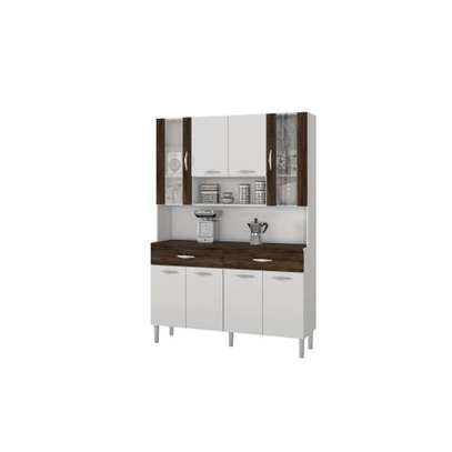 KITCHEN CABINET BUF034  WHITE $DARKBROWN image 1