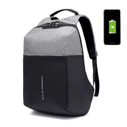 Antitheft Bags With Charging Port And Password Lock - Grey