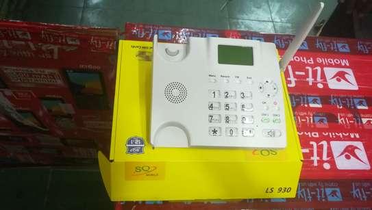 SQ LS 180 Dual Sim Desktop Office Phone With FM Radio 2000mah Battery image 7