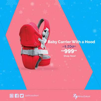 Stylish Baby Carrier with Hood