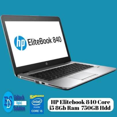 HP Elitebook 840 Core i5 8Gb Ram 750Gb Hard Drive 14 Inches image 1