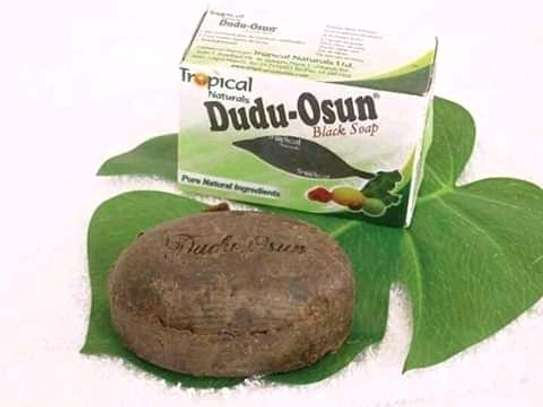 Herbal black soap for strechmarks, black spot and pimples image 1