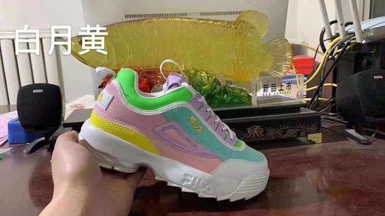 Multiple colored fila shoes image 3