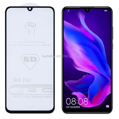 5D Curved Anti-explosion HD Clear Tempered Glass Front Screen Protector for Huawei P30 Lite image 1