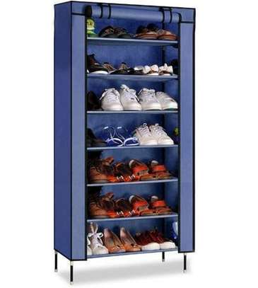 Single column portable shoe rack image 1