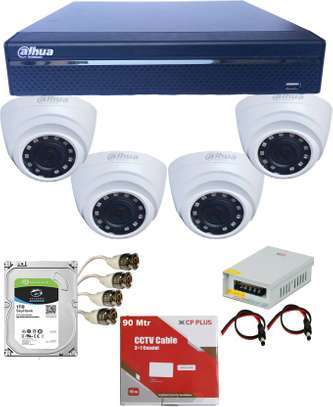 Dahua 4 CCTV Cameras (Night Vision) Complete Security Surveillance System