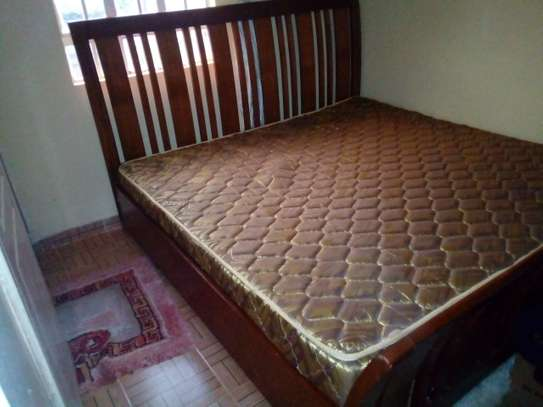 6 by 6 wooden bed plus extra high density mattress