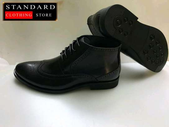 PURE ITALIAN LEATHER SHOES WITH RUBBER SOLE image 10