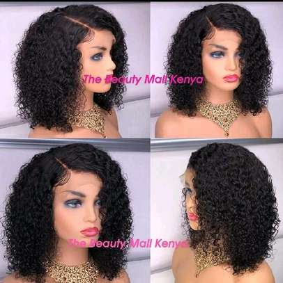Curly human hair wigs image 1