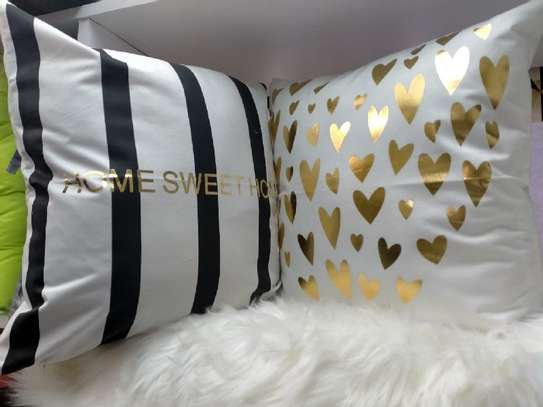 Gold Coated Throw Pillows image 2
