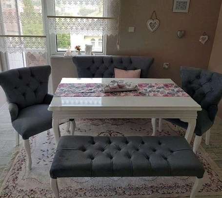 Six seater dining table set for sale in Nairobi Kenya/Best dining chair designs/modern dining table designs image 1