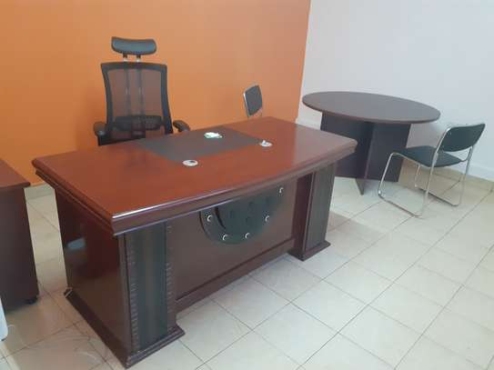 Executive Office Mahogany Desk 1.6Meters With Free Delivery & Installation image 5