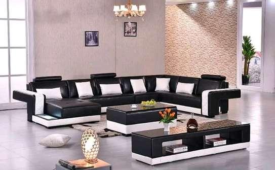 Sectional leather sofas(L-shaped and U-shaped) e) image 2