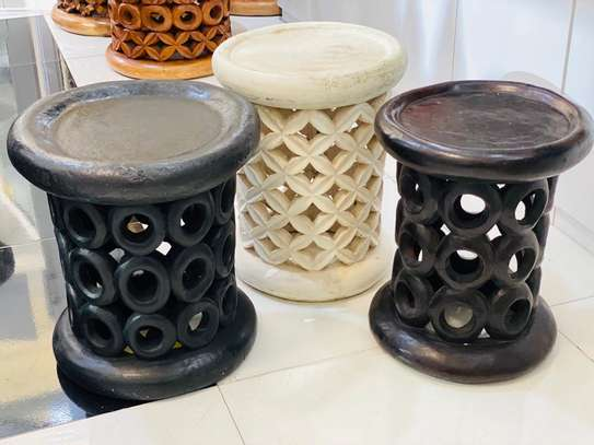 African Coffee Stools and Tables image 2