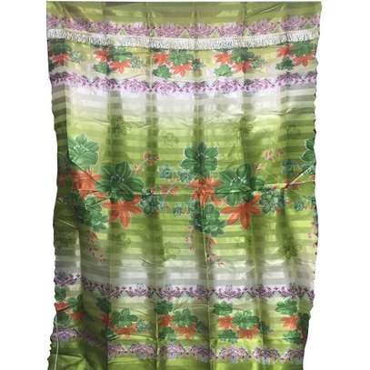 Patterned/Floral Window Curtains - Multicolour image 1