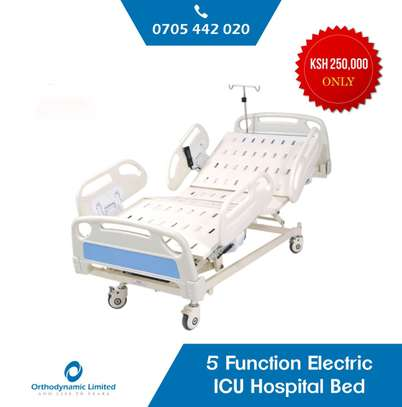 Hospital Manual Double crank Bed - Two function bed image 3