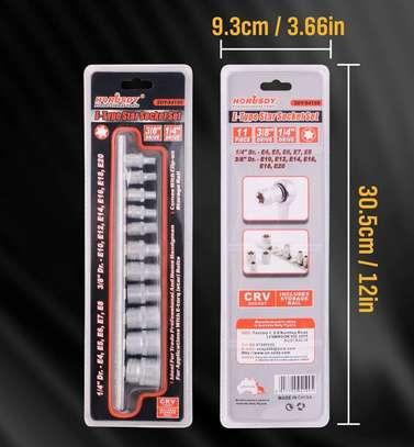 11 PCS E-Type Star Socket Torx Set E4 to E20 image 3