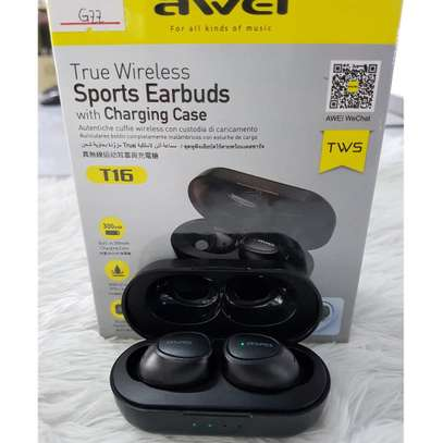 Awei T16 TWS Wireless Charging In-ear Stereo Bluetooth 5.0 Earphones image 6