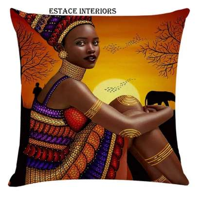 AFRICAN PRINT PILLOW CASES image 1