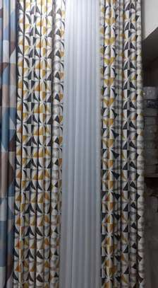cheap European patterned fabric curtain and sheers image 6