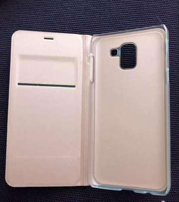 Flip Wallet Premium Case Cover For Samsung Galaxy A6 A6 Plus 2018 image 1