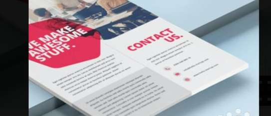 Flyers ,brochure printing and signs image 1