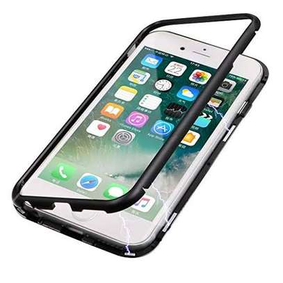 "Luxury Magnetic Adsorption Case for iPhone 6/6s 4.7"",Metal Bumper Frame"