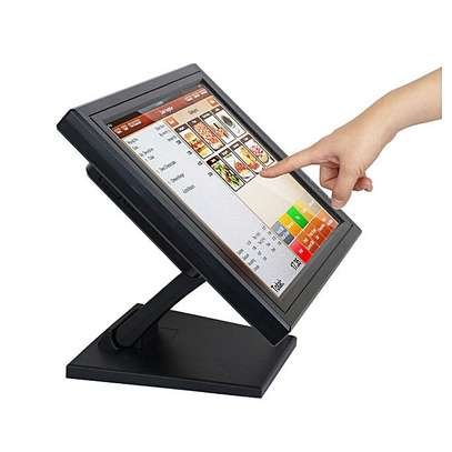 15 inch Point of Sale POS Touch Screen LCD Monitor Computer Display With Plastic Stand
