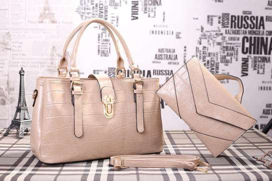 2 Piece Leather Handbag Sets. image 4