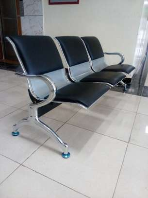 leather padded linked reception seats
