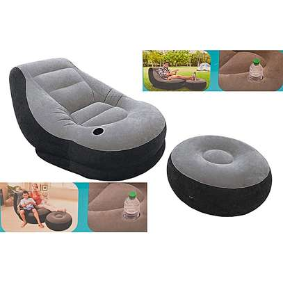 Inflatable seat with footrest and FREE Pump