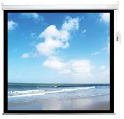 Electric Projection screen 70*70 image 1