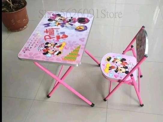 Kids foldable chair+foldable seat set image 2