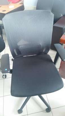 Augustin Medium Back Semi Orthopedic Office Chair image 1