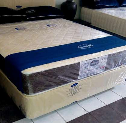 5 by 6 Spring Mattress plus Bed. Free Delivery. image 1