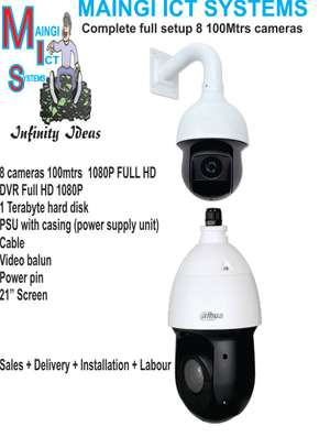 8 CCTV  CAMERAS 100 METERS  RANGE Complete Sales Delivery Plus Installation