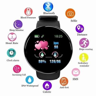 Fitness Tracker  with Heart Rate Blood Pressure Oxygen  Calorie  Waterproof  BLACK image 8