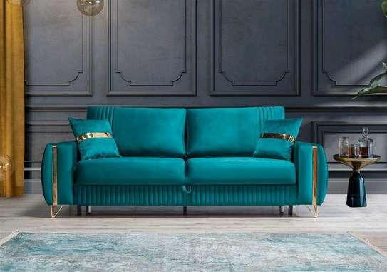 Three seater turquoise sofas for sale in Nairobi Kenya/Best Furniture stores in Nairobi Kenya/Latest three seater sofas image 1