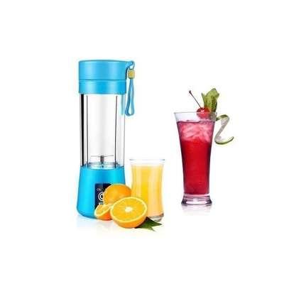 Portable Blender Juicer Cup / Electric Fruit Mixer / USB Juice Blender, Rechargeable,Blades 380mL - Blue image 1