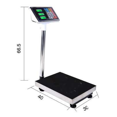 checkered steel plate 300kg digital platform weighing scale