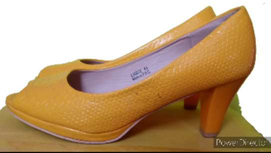 Yellow Everyday Official & Casual Peep Toe Shoes.