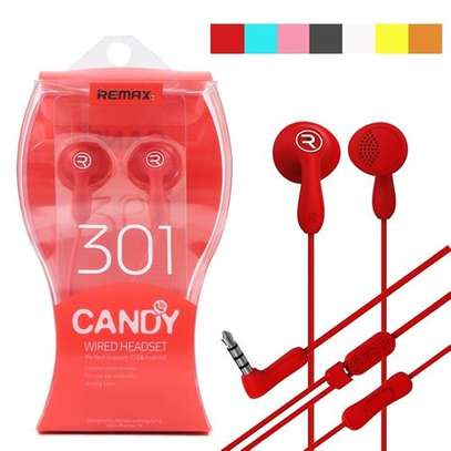 RM-301 Candy Colorful Dynamic Driver HIFI Earphone Headphone BK image 1