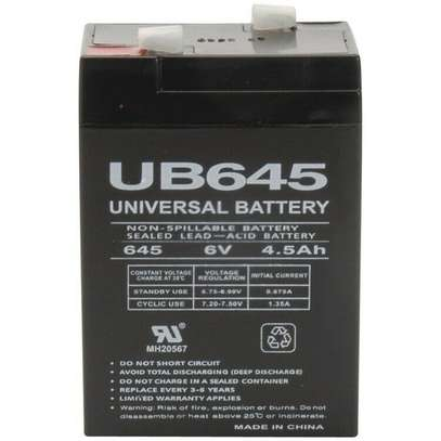 6V 4AH rechargeable lead acid battery storage battery small toy car battery image 1